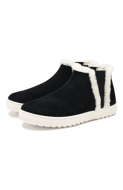 Замшевые ботинки с меховой отделкой Il Gufo
