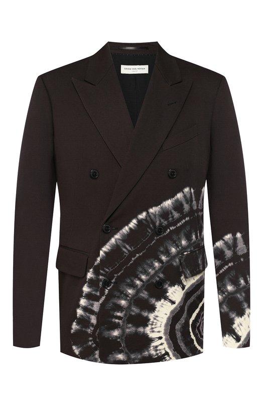 Хлопковый пиджак Dries Van Noten