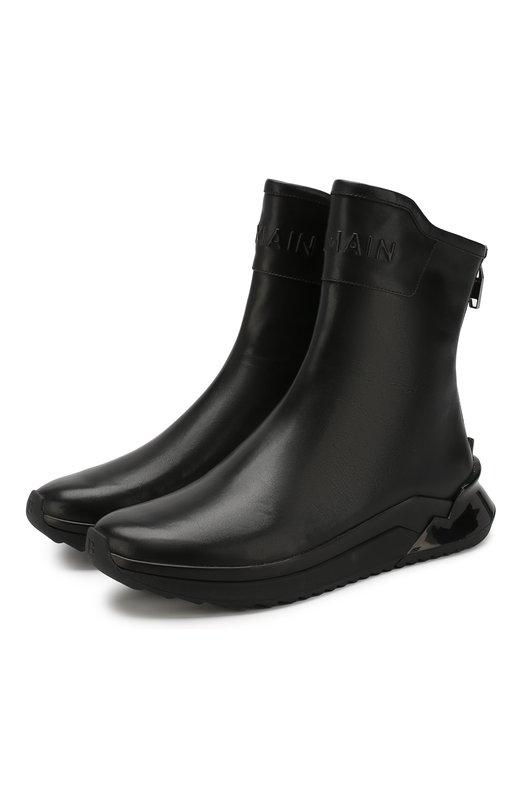 Кожаные сапоги B-Glove Balmain