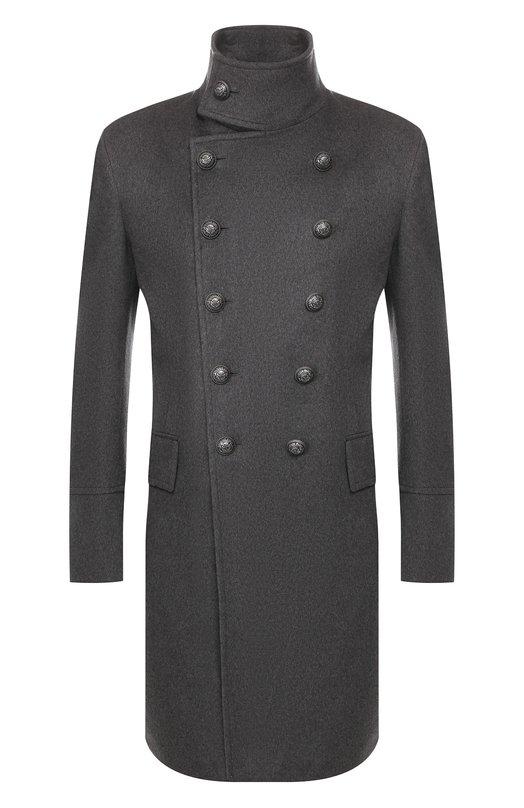 Пальто из смеси шерсти и кашемира Balmain