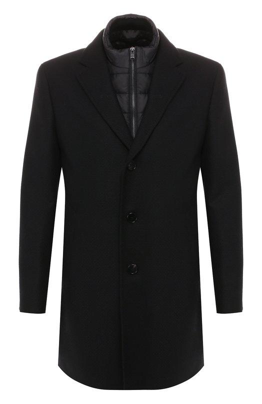 Шерстяное пальто BOSS