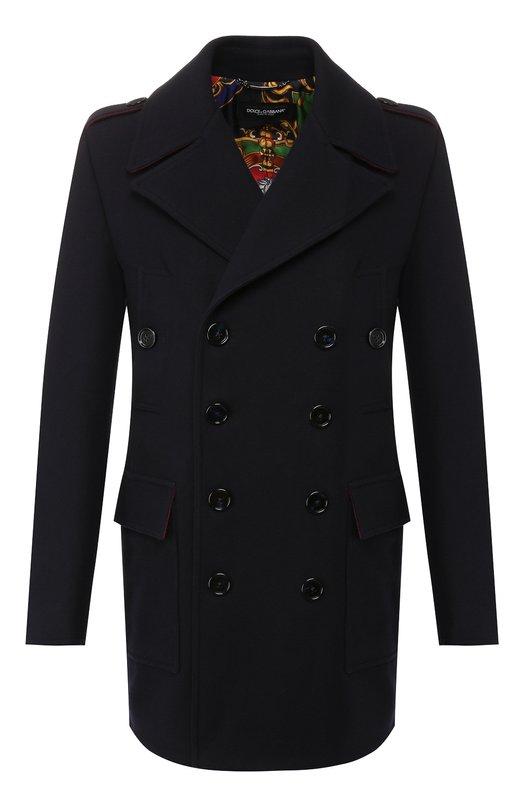 Пальто из смеси шерсти и кашемира Dolce & Gabbana