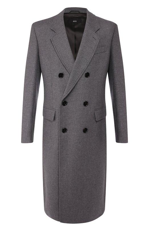 Пальто из смеси шерсти и кашемира BOSS
