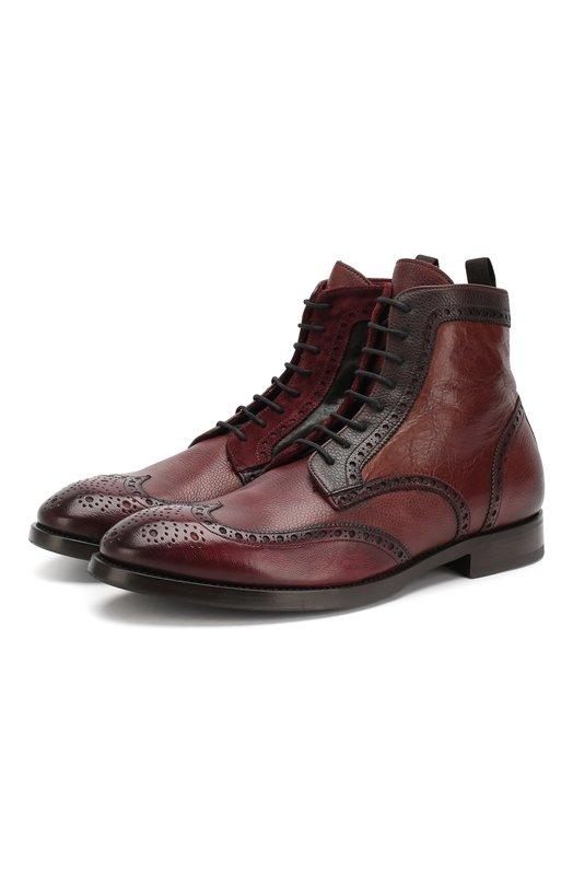 Кожаные ботинки Raparo