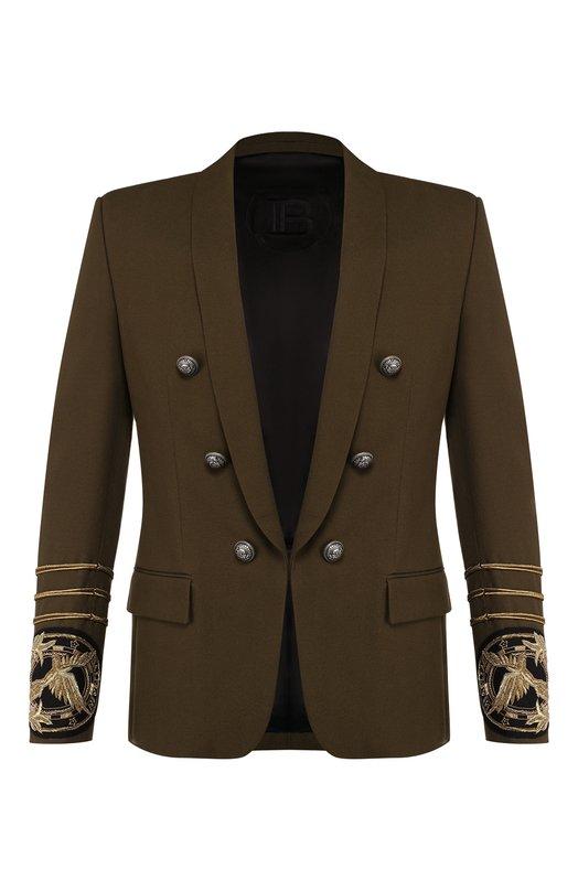Хлопковый пиджак Balmain