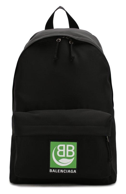 Текстильный рюкзак Green Logo Explorer Balenciaga