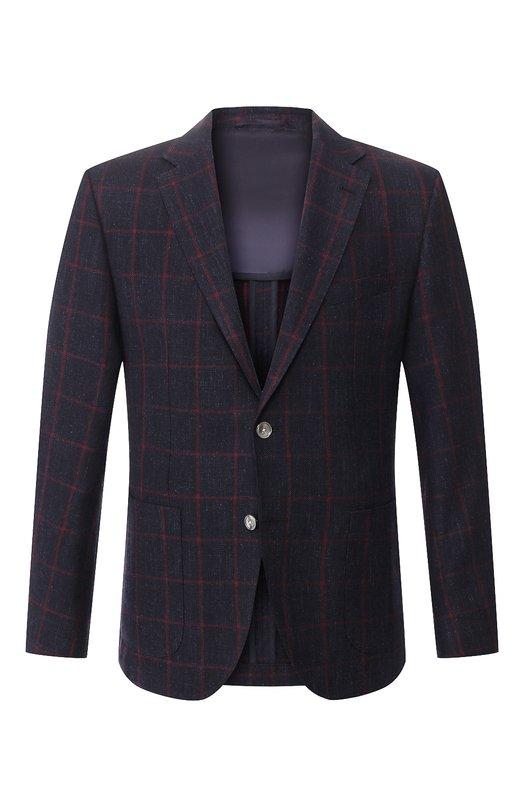 Пиджак из смеси шерсти и хлопка BOSS