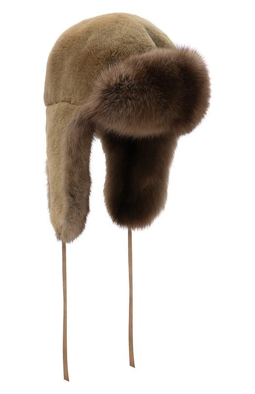 Шапка-ушанка из меха соболя и норки FurLand