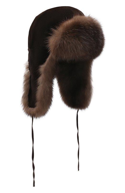 Шапка-ушанка из меха норки и соболя FurLand