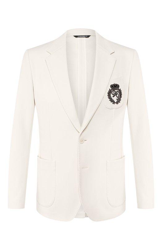 Хлопковый пиджак Dolce & Gabbana