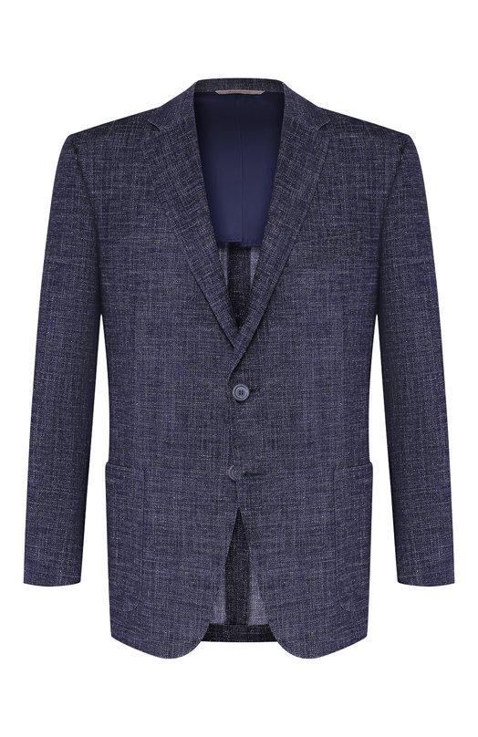 Пиджак из смеси шерсти и хлопка Canali