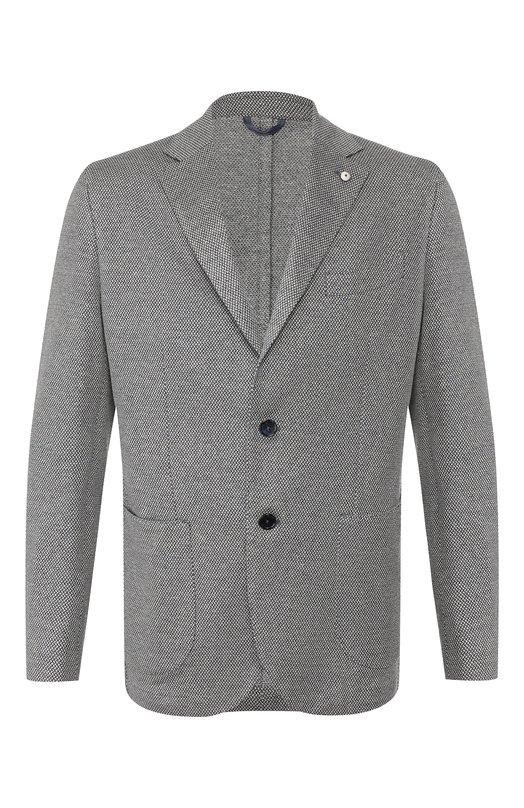 Пиджак из смеси хлопка и льна L.B.M. 1911