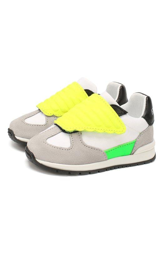 Кожаные кроссовки Emporio Armani