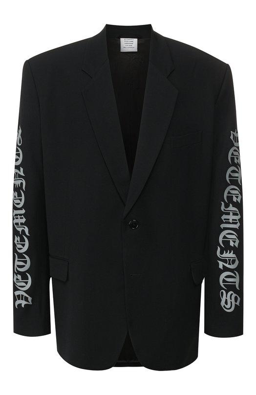 Пиджак из смеси вискозы и шерсти Vetements