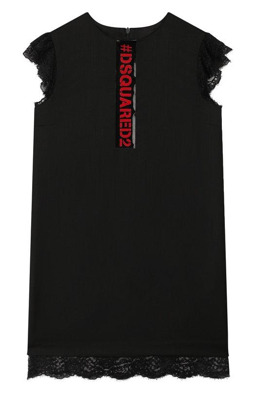 Шерстяное платье Dsquared2