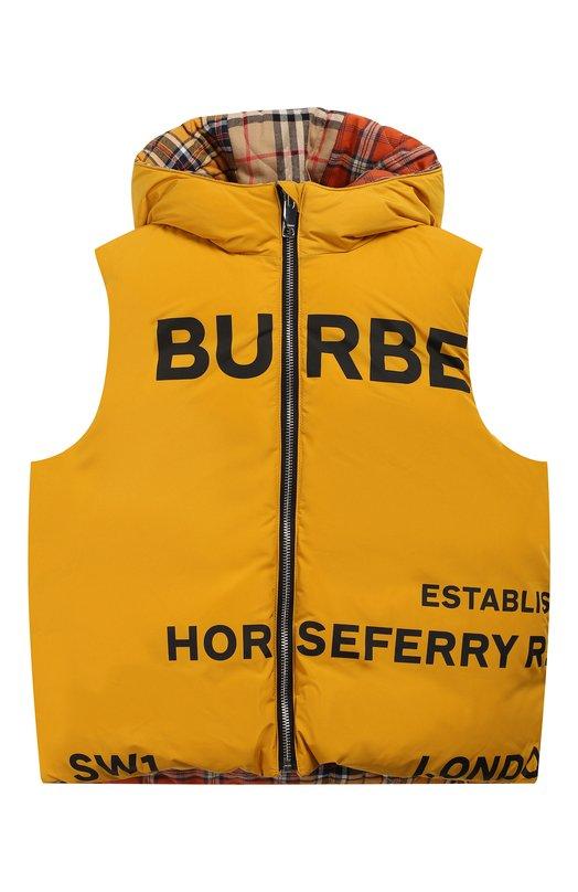 Пуховый жилет с капюшоном Burberry