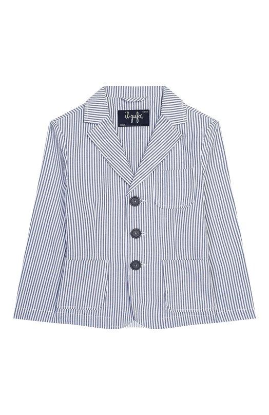 Хлопковый пиджак Emporio Armani