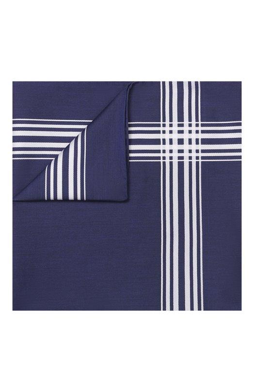 Хлопковый платок с контрастными полосами Simonnot-Godard