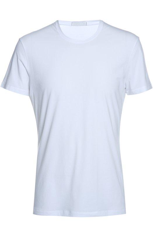 Футболка La PerlaФутболки<br>Белая футболка сшита из тонкого хлопка стрейч с добавлением эластановых волокон для дополнительной прочности. Облегающая модель с короткими рукавами и круглым вырезом стала частью базовой коллекции бренда.<br><br>Российский размер RU: 54<br>Пол: Мужской<br>Возраст: Взрослый<br>Размер производителя vendor: XXL<br>Материал: Хлопок: 89%; Эластан: 11%;<br>Цвет: Белый