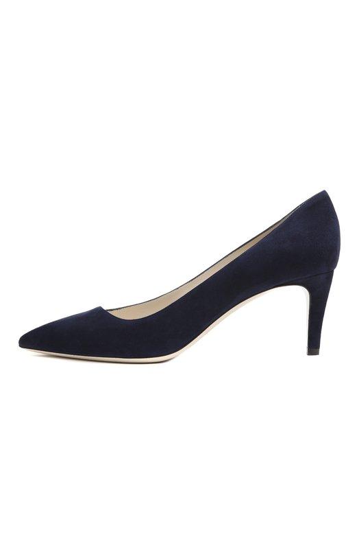 Замшевые туфли с зауженным мысом Giorgio Armani X1E310/XC067