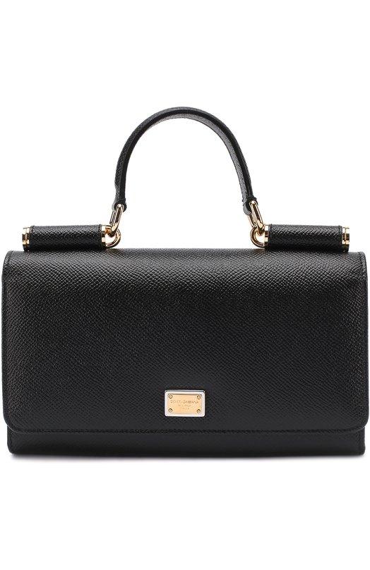Купить Сумка Sicily Von на цепочке Dolce & Gabbana, 0116/BI0671/A1001, Италия, Черный, Кожа натуральная: 100%;