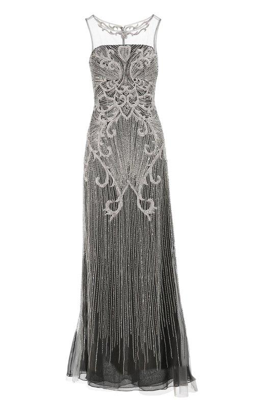 Вечернее платье Basix Black LabelПлатья<br>Приталенное вечернее платье без рукавов застегивается сзади на потайную молнию. Верхний слой выполнен из тонкого тюля, нижний — из полупрозрачного текстиля серого цвета. Модель украшена вышивкой серебристой нитью, пайетками и бисером.<br><br>Российский размер RU: 40<br>Пол: Женский<br>Возраст: Взрослый<br>Размер производителя vendor: 0<br>Материал: Полиэстер: 100%;<br>Цвет: Серый