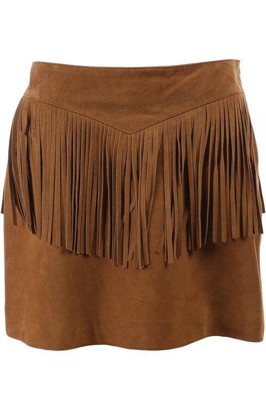 Кожаная юбка Saint Laurent 376152/Y5JM2