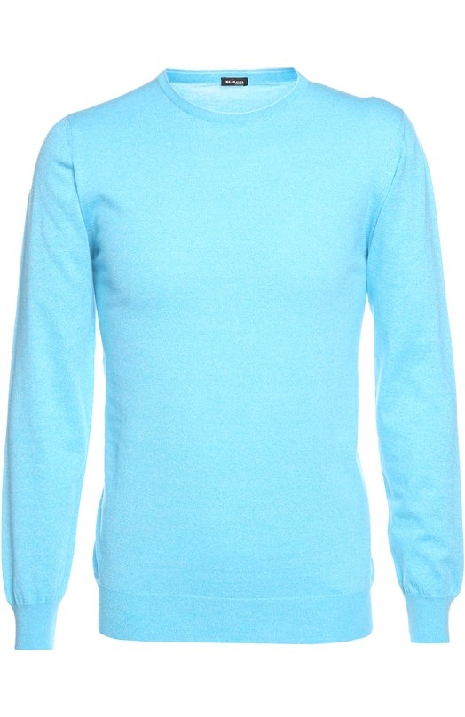 Пуловер KitonСвитеры<br>Мастера марки выполнили облегающий пуловер из ультрамягкой хлопковой пряжи бирюзового цвета. Круглый вырез дополнен двумя тонкими, едва заметными полосами. Нам нравится сочетать с голубым бомбером, белыми брюками и ярко-желтыми лоферами.<br><br>Российский размер RU: 56<br>Пол: Мужской<br>Возраст: Взрослый<br>Размер производителя vendor: XXL<br>Материал: Хлопок: 100%;<br>Цвет: Бирюзовый