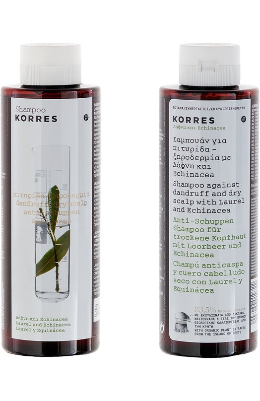 ������� �� ������� � ����� ���� ������ Korres Shampoo against dandruff and dry scalp Laurel and Echinacea 5203069019722
