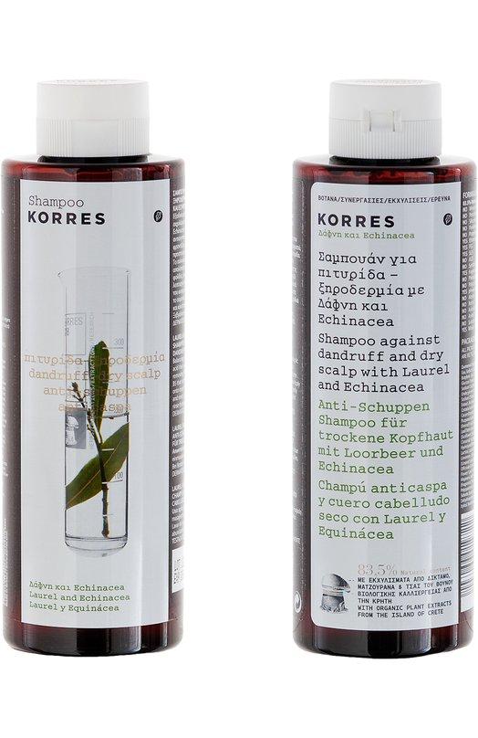 Шампунь от перхоти и сухой кожи головы Korres Shampoo against dandruff and dry scalp Laurel and Echinacea Korres 5203069019722