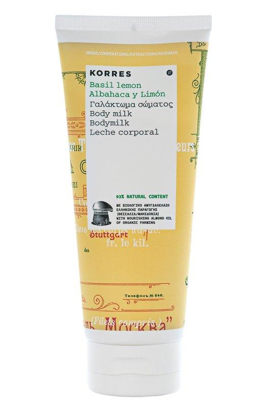 Молочко для тела Basil Lemon Body Milk Korres 5203069043307