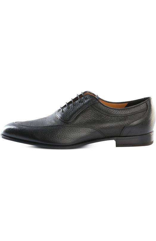 Туфли BarrettТуфли<br>В весенне-летнюю коллекцию бренда, основанного Джоном Ричардсоном Барретом, вошли туфли с закрытым типом шнуровки. Модель с миндалевидным мысом, на небольшом каблуке произведена из комбинации перфорированной и зернистой кожи черного цвета.<br><br>Российский размер RU: 41<br>Пол: Мужской<br>Возраст: Взрослый<br>Размер производителя vendor: 7<br>Материал: Кожа натуральная: 100%; Стелька-кожа: 100%; Подошва-кожа: 100%;<br>Цвет: Черный