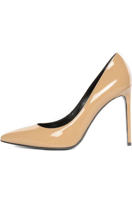 Лаковые туфли Paris Skinny на шпильке Saint Laurent 375366/B8I00