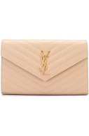 Сумка Monogram Envelope из стеганой кожи Saint Laurent кремвого цвета | Фото №1