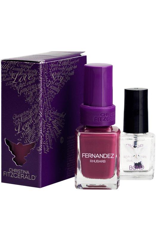Лак для ногтей Fernandez / Cочный ревень + Bond-подготовка Christina FitzgeraldЛаки для ногтей<br><br><br>Объем мл: 12<br>Пол: Женский<br>Возраст: Взрослый<br>Цвет: Бесцветный