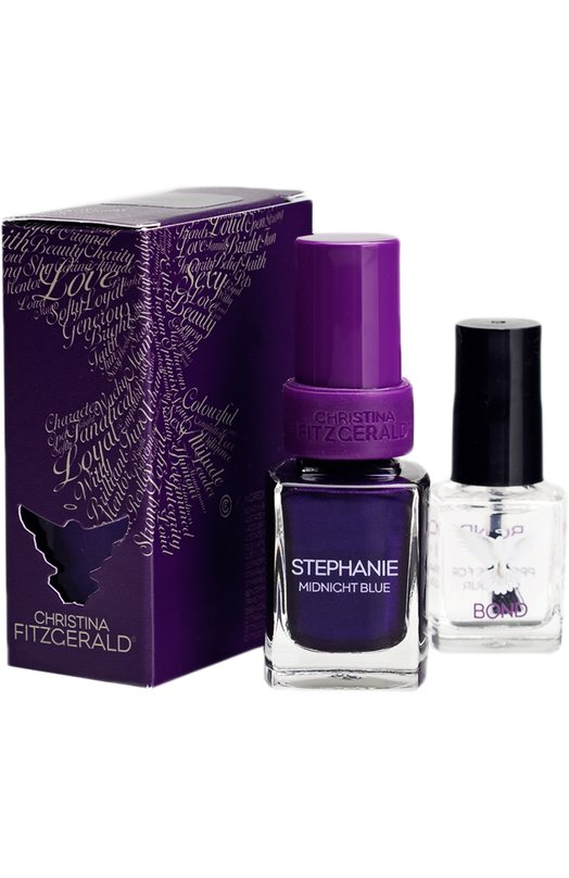 Лак для ногтей Stephany / Полночная синева + Bond-подготовка Christina FitzgeraldЛаки для ногтей<br><br><br>Объем мл: 12<br>Пол: Женский<br>Возраст: Взрослый<br>Цвет: Бесцветный