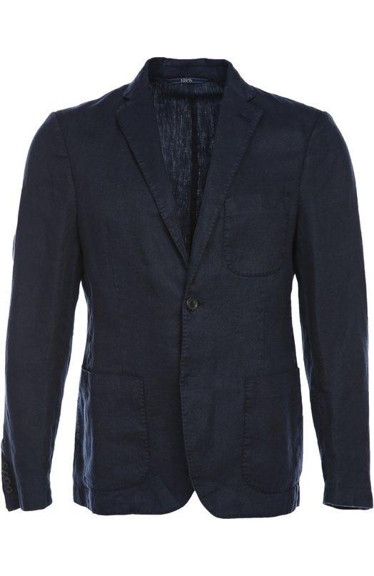 Пиджак 120% Lino. Цвет: темно-синий