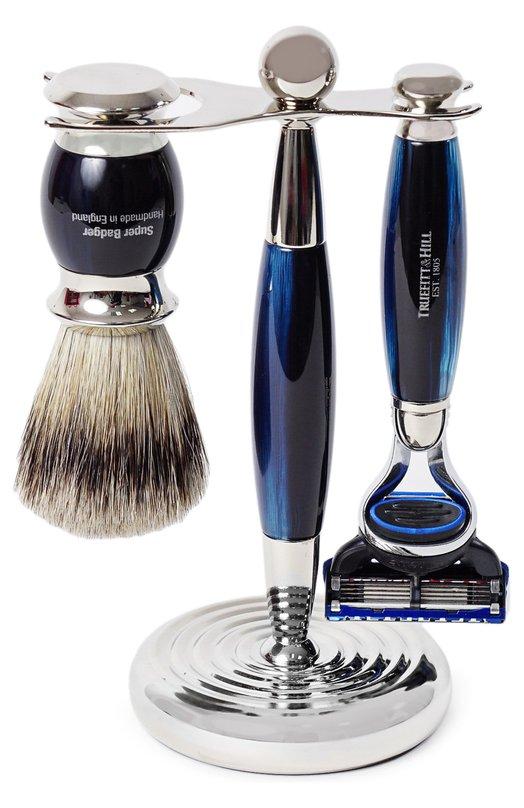 Кисть для бритья Станок с лезвием Fusion Голубой опал Truefitt&Hill 00351