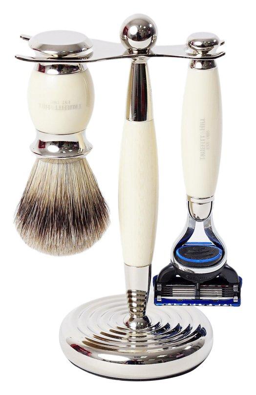 Кисть для бритья Станок с лезвием Fusion Слоновая кость TruefittHill 00353