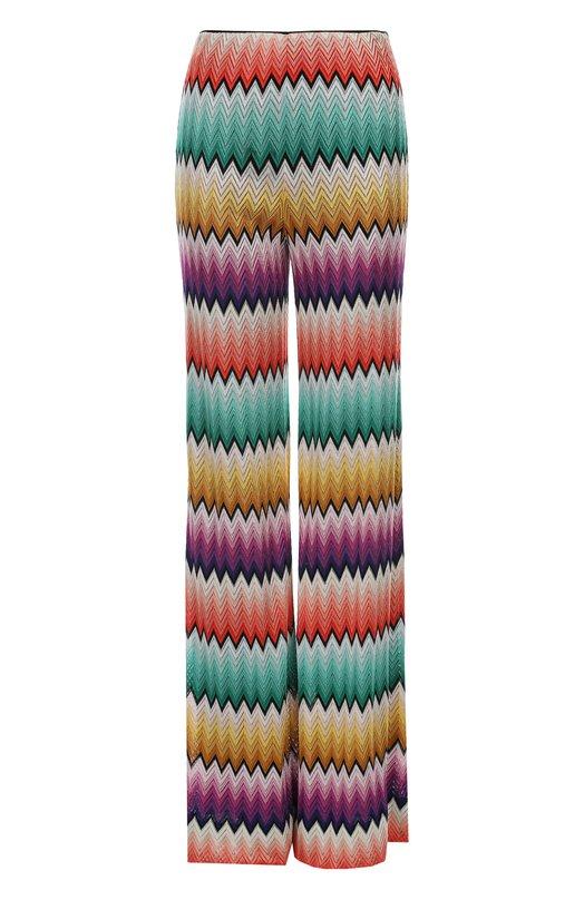 Вязаные брюки MissoniБрюки<br><br><br>Российский размер RU: 44<br>Пол: Женский<br>Возраст: Взрослый<br>Размер производителя vendor: 42<br>Материал: Подкладка-шелк: 97%; Подкладка-эластан: 3%; Вискоза: 100%;<br>Цвет: Разноцветный
