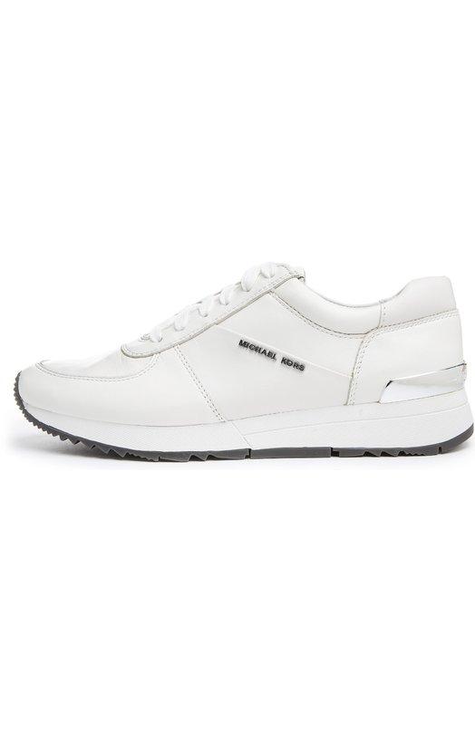Купить Кожаные кроссовки Alison с декором MICHAEL Michael Kors, 43R5ALFP3L, Китай, Белый, Кожа натуральная: 100%; Стелька-кожа: 100%; Подошва-резина: 100%; Стелька-текстиль: 100%;