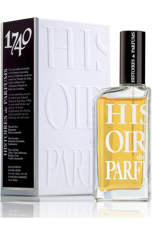 Парфюмерная вода 1740 Histoires de ParfumsАроматы для мужчин<br><br><br>Объем мл: 60<br>Пол: Женский<br>Возраст: Взрослый<br>Цвет: Бесцветный