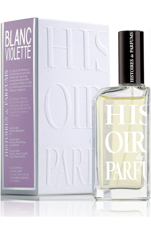 Парфюмерная вода Blanc Violette Histoires de ParfumsАроматы для женщин<br><br><br>Объем мл: 60<br>Пол: Женский<br>Возраст: Взрослый<br>Цвет: Бесцветный
