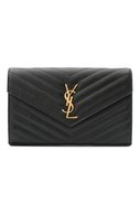 Сумка Monogram Envelope из стеганой кожи Saint Laurent черная | Фото №1