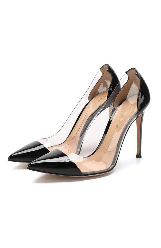 Купить Лаковые туфли Plexi на шпильке Gianvito Rossi Италия 4223537 G20140/VERNICE+PLEXY