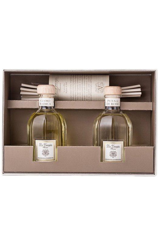Набор Duo Box Cuoio Radica e Petali di Rose Dr.VranjesАроматы<br><br><br>Пол: Женский<br>Возраст: Взрослый<br>Размер производителя vendor: NS<br>Цвет: Бесцветный