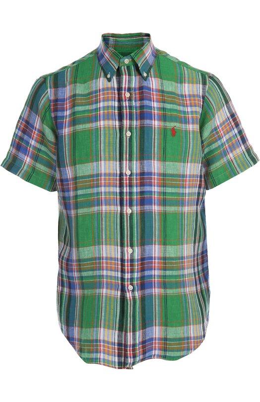 Сорочка Polo Ralph LaurenРубашки<br><br><br>Российский размер RU: 52<br>Пол: Мужской<br>Возраст: Взрослый<br>Размер производителя vendor: XL<br>Материал: Лен: 100%;<br>Цвет: Зеленый