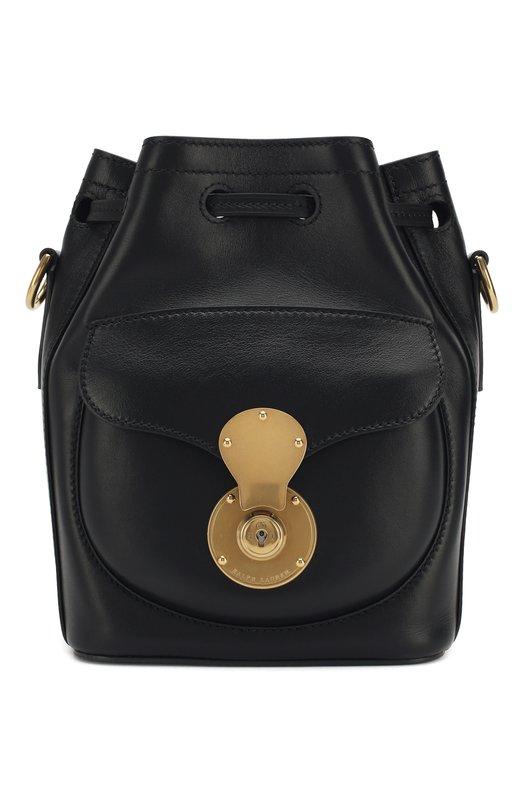 Купить Сумка Ricky Drawstring small Ralph Lauren, 69H/ICJ05/RAPPA, Италия, Черный, Кожа натуральная: 100%;