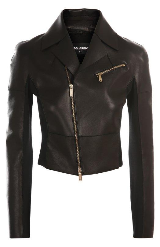 Куртка кожаная Dsquared2. Цвет: черный