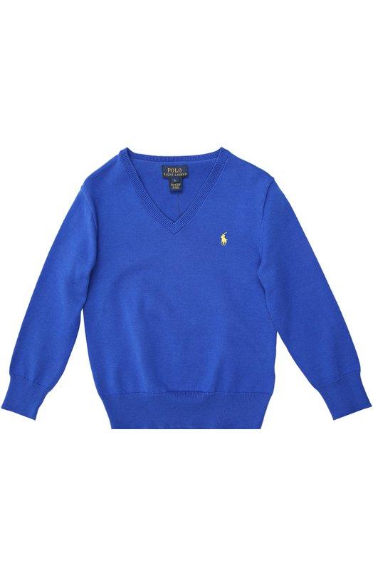 Пуловер Polo Ralph LaurenСвитеры<br><br><br>Размер Years: 6<br>Пол: Мужской<br>Возраст: Детский<br>Размер производителя vendor: 116-122cm<br>Материал: Хлопок: 100%;<br>Цвет: Синий